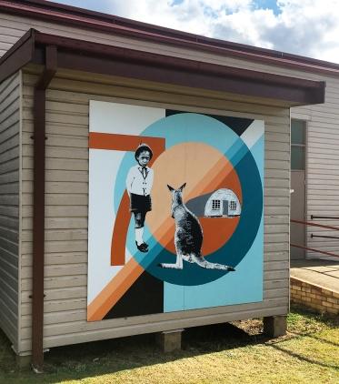 Greta Migrant Camp Mural