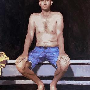 Beach Figure (Blue Shorts)