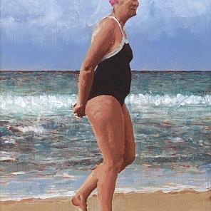 Beach Figure (Pink Cap)