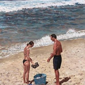 Beach Figures (Blue Bucket)