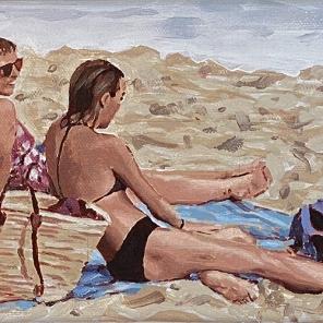 Beach Figures (Two Women)